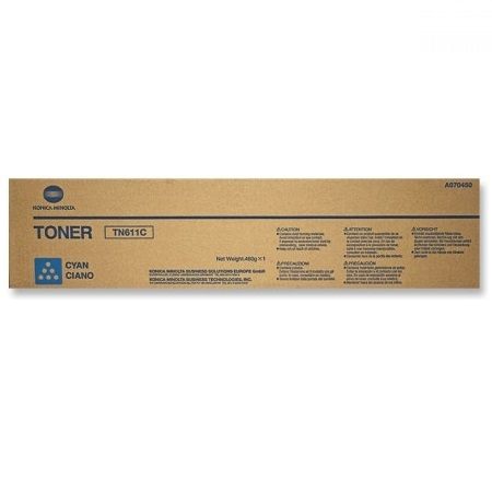 Konica Minolta TN611 Cyan Original Toner Cartridge (A070430)