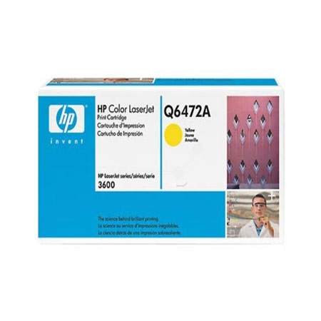 HP Color LaserJet Q6472A Yellow Original Print Cartridge with HP ColorSphere Toner