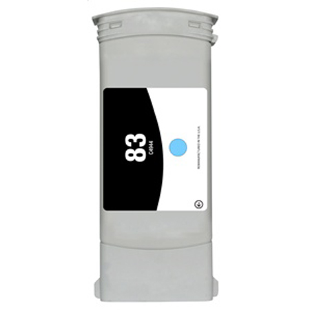 HP 83 Light Cyan Pigment Remanufactured High Capacity Ink Cartridge (C4944A) (680ml)