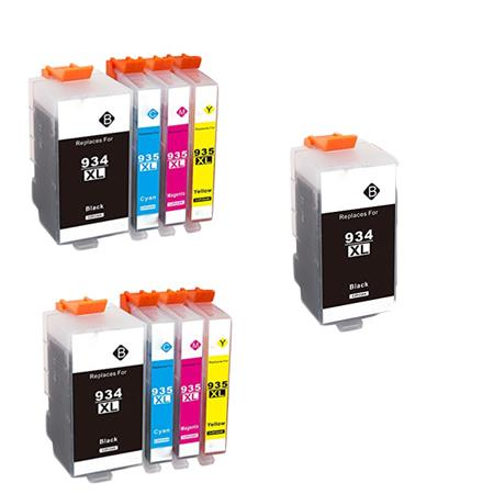 934XL/935XL 2 Full Sets + 1 EXTRA Black Remanufactured Inks