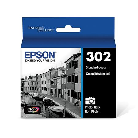 Epson 302 (T302120-S) Photo Black Original Standard Capacity Ink Cartridge