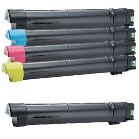 332-1874/1875/1876/1877 Full Set + 1 EXTRA Remanufactured Toners