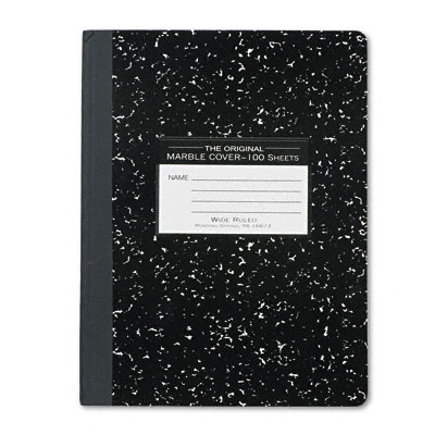 Marble Cover Wide Rule Composition Book