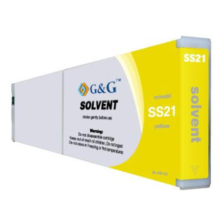 Compatible Yellow Mimaki SS21Y Mild-Solvent Ink Cartridge