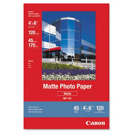 Canon Matte Photo Paper  4 x 6  45 lb.  White  120 Sheets/Pack