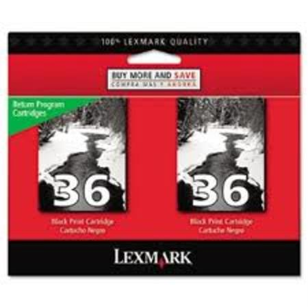 Lexmark No.36 (18C2236) Original Twin Pack Black Ink Cartridges