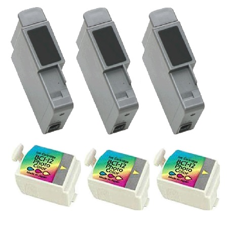 Clickinks BCI-12 BK/CL 3 Full Sets Compatible Inks