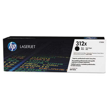 HP 312X Black Original High Capacity Toner Cartridge (CF380X)