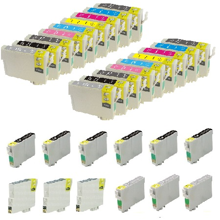 T0961/969 2 Full Set + 12 EXTRA Photo/Light/Matte/Light Light Black Remanufactured Inks