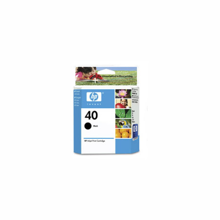 HP 40 Black Original Inkjet Print Cartridge (51640A)