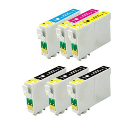 124 Full Set + 2 EXTRA Black Remanufactured Inks