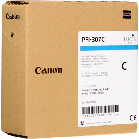 Canon PFI-307C Cyan Original Standard Capacity Ink Cartridge (330ml)