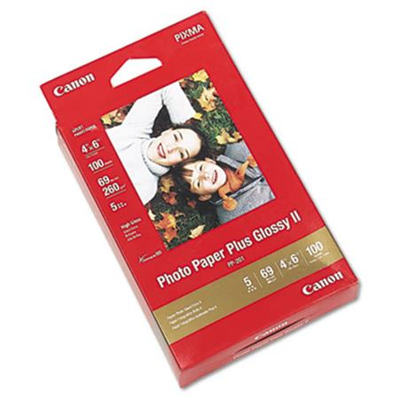 Canon Photo Paper Plus Glossy II  69 lbs.  4 x 6  100 Sheets/Pack