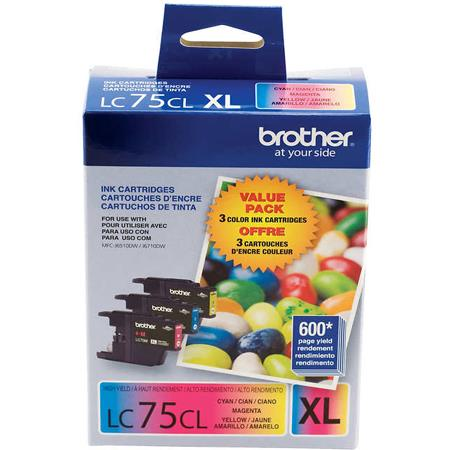 Brother LC753PKS Color Original High Capacity Ink Cartridge Multipack - 3 Pack