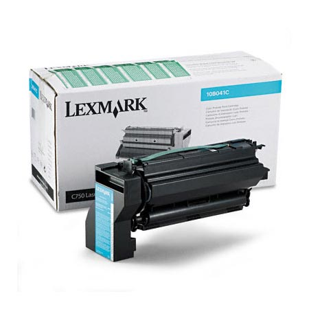 Lexmark 10B041C Original Cyan Prebate Laser Toner Cartridge