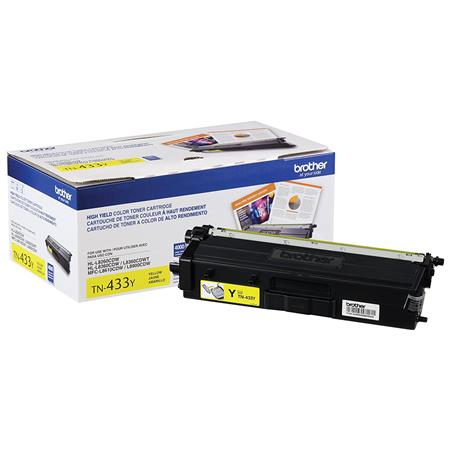 Brother TN433Y Yellow Original High Capacity Toner Cartridge