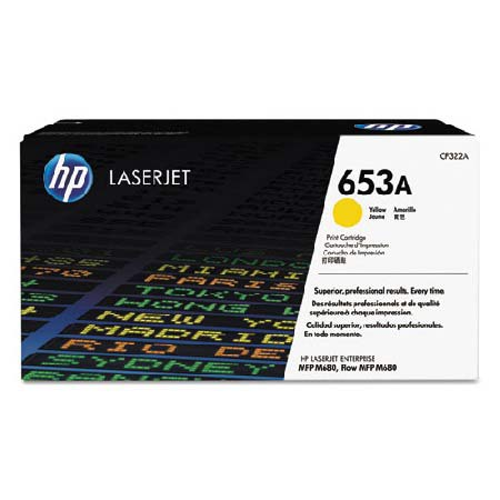 HP 653A Yellow Original Toner Cartridge (CF322A)