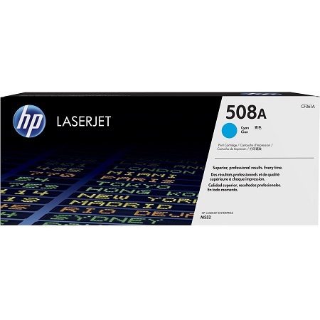 HP 508A Cyan Original Standard Capacity Toner Cartridge (CF361A)