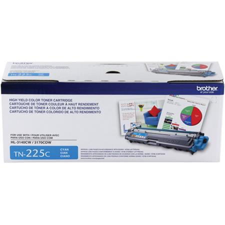 Brother TN225C Cyan Original High Capacity Toner Cartridge