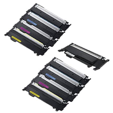 Compatible Multipack Samsung CLT-4072S BK/C/M/Y 2 Full Sets + 1 Extra Black Toner Cartridges