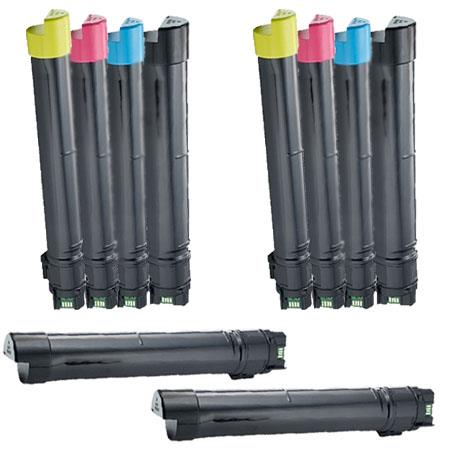 Compatible Multipack Dell 332-1874/1875/1876/1877 2 Full Set + 2 EXTRA Toner Cartridges