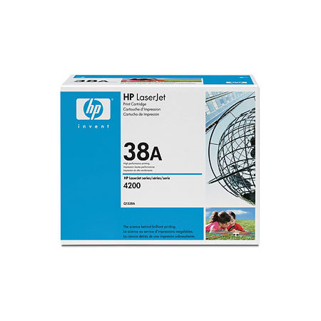 HP LaserJet 38A (Q1338A) Black Original Standard Capacity Print Cartridge with Smart Printing Technology