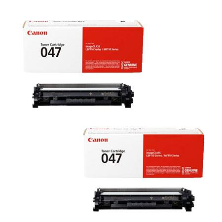 Canon 047BK Black Original High Capacity Toner Cartridges - Twin Pack