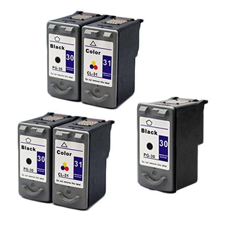 Compatible Multipack Canon PG-30/CL-31 2 Full Sets + 1 EXTRA Black Inkjet Cartridges