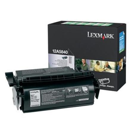 Lexmark 12A5840 Original Black Prebate Toner Cartridge