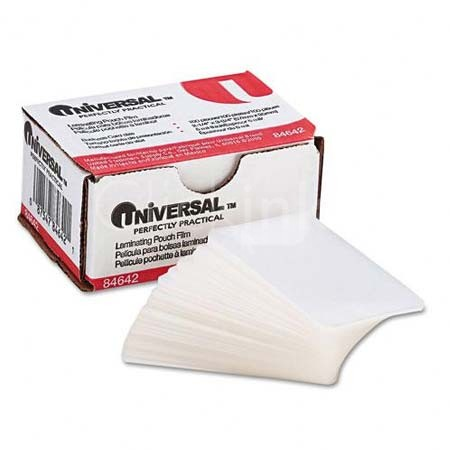 Universal Clear Laminating Pouches  5 mil  2 3/16 x 3 11/16  Business Card Size  100