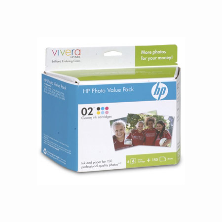 HP Custom 02 Series 150-Sheet Photo Value Pack (Q7964AN)