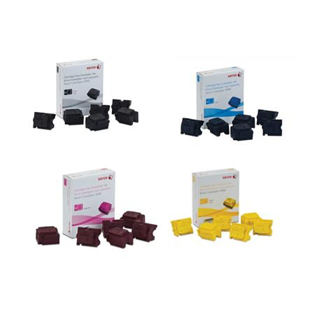 Xerox Black 108R01014/17 Full Set Original Solid Ink Cartridges