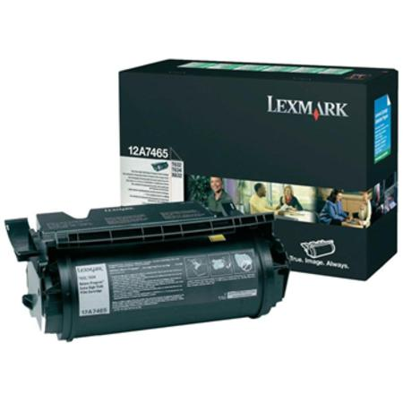 Lexmark 12A7465 Original Black High Capacity Toner Cartridge