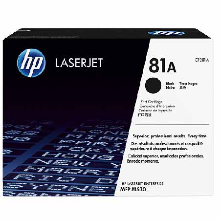 HP 81A Black Original Toner Cartridge (CF281A)