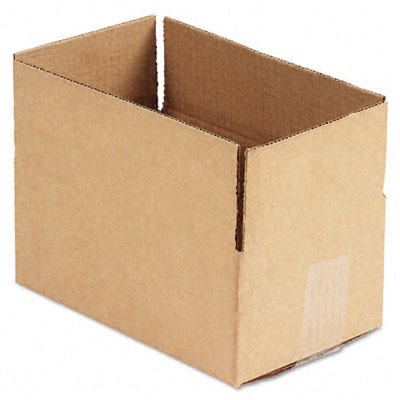Corrugated Kraft Fixed-Depth Shipping Carton 6w x 10l x 4h Brown 25/Bundle