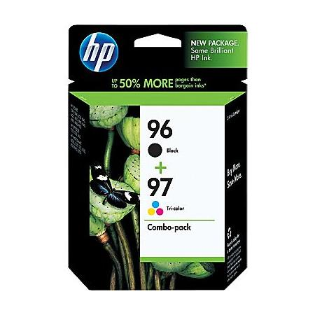 HP 96/97 Original High Capacity Inkjet Print Cartridge Combo Pack with Vivera Inks (C9353BN)