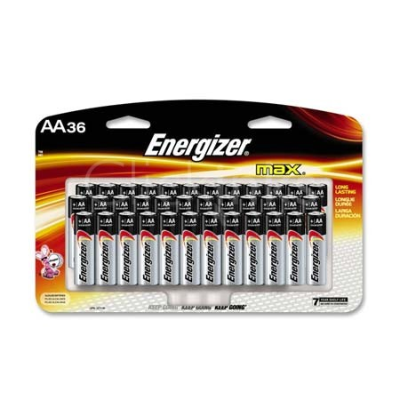 Energizer MAX Alkaline Batteries  AA  36 Batteries/Pack
