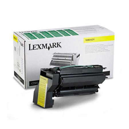 Lexmark 10B042Y Original Yellow Prebate High Yield Laser Toner Cartridge