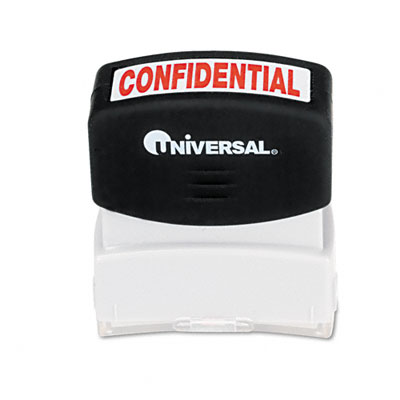 Universal Message Stamp  CONFIDENTIAL  Pre-Inked/Re-Inkable  Red