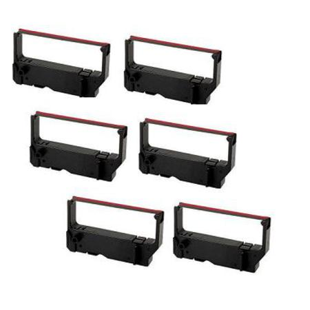 Compatible Black/Red Star Micronics RC200BR Printer Ribbon (Replaces Star PSB-63) - Pack of 6