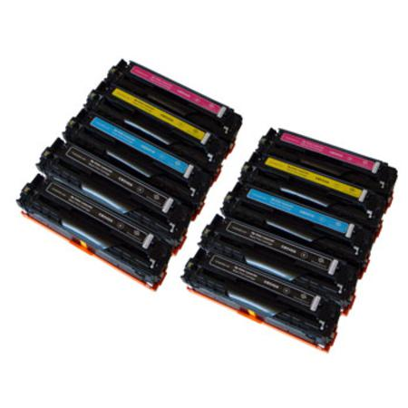 Compatible Multipack HP CB540A/43A 2 Full Sets + 2 EXTRA Black Toner Cartridges