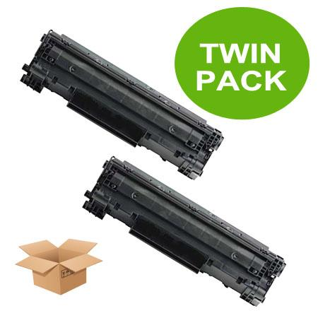 126 Black Remanufactured Toner Cartridges Twin Pack
