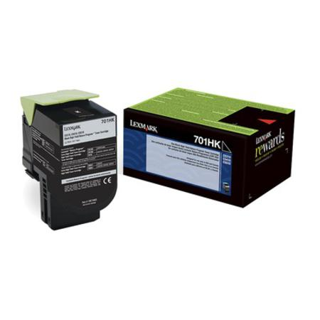Lexmark 701HK Original Black High Capacity Return Program Toner Cartridge