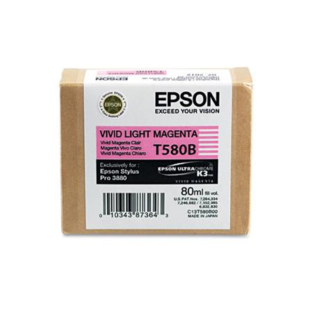Epson T580B (T580B00) Original Vivid Light Magenta Ink Cartridge
