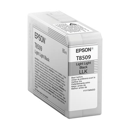 Epson T8509 (T850900) Light Light Black Original UltraChrome HD Ink Cartridge (80 ml)