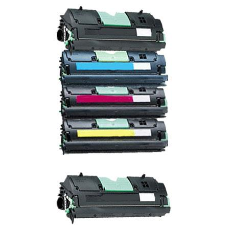 1361751/54 Full Set + 1 EXTRA Black Remanufactured Toner