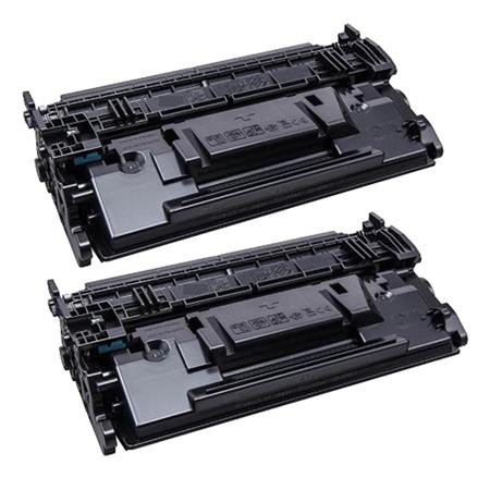 87A Black Remanufactured Toner Cartridges Twin Pack