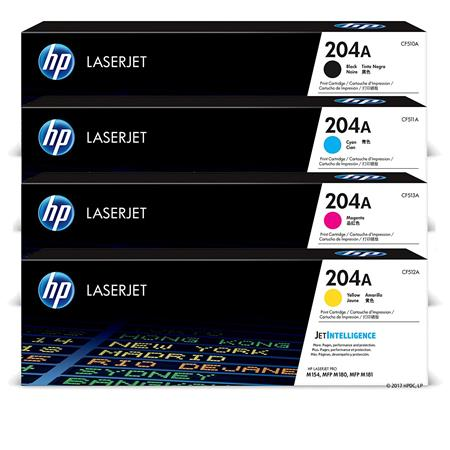 HP 204A Full Set Original Toner Cartridges