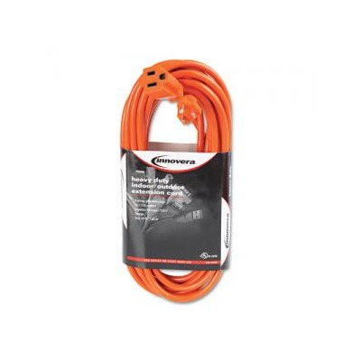 Innovera Indoor/Outdoor Extension Cord 25 Feet Orange