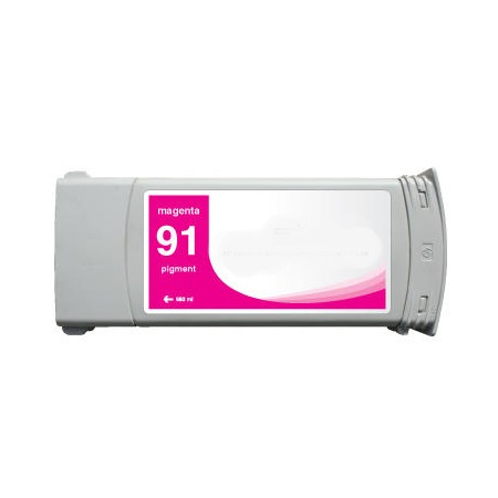 Compatible Magenta HP 91 Pigment Ink Cartridge (Replaces HP C9468A) (775ml)